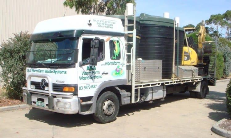 Worm Farm Septic Tank System